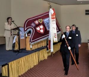 Zahájení jubilejní 40. konference s korouhví Cechu malířů a lakýrníků