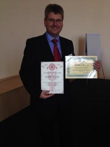 Ing. Gerlich (Media CZ) s diplomy pro přednášející