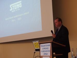 Ing. M. Laciný, přednáška na téma projekty firmy STENG s.r.o.